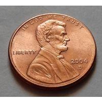 1 цент США 2004,  2004 D, AU