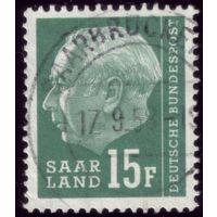 1 марка 1957 год Саарленд ФРГ 388