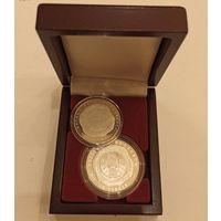 Футляр для 2 монет с капсулами 37.00 mm и 45.00 mm деревянный