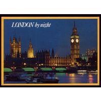 Великобритания Лондон ночью