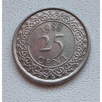 Суринам 25 центов, 1988 6-11-35