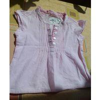 Рубашка блузка Next 9-12 месяцев