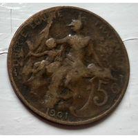 Франция 5 сантимов, 1901  2-6-28