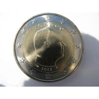 Монако 2 евро 2015 г. UNC!