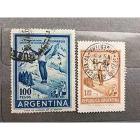 Аргентина 1961 год. Стандарт. Прыжки с трамплина