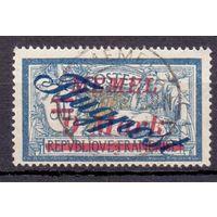 Мемель (Клайпеда) 2-й выпуск марок авиапочты 9 м/5 фр 1922 г