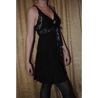 """Чёрное женское фирменное вечернее платье Seam creative line""""НАТАЛИ"""",размер-(42/44),-на рост 164-175.НОВОЕ!Фабричная ТУРЦЫЯ."""