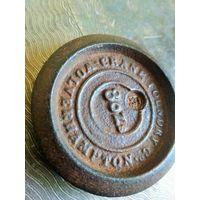 Гирька нач. 19 в., 8 OZ (8 унций), Англия Wolverhampton, гиря торговая, аптечная, Диаметр 6.5 см.
