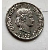 Швейцария 10 раппен, 1939  2-12-4