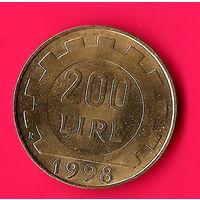 17-28 Италия, 200 лир 1998 г.
