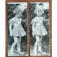 Два фото девочки с мячиком. 9х24 см. Цена за 2.