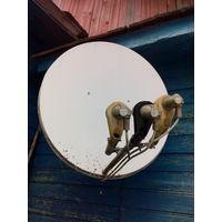Спутниковая тарелка с двумя ресивирами.Все в рабочем состоянии.
