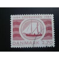 Дания 1984 парусник