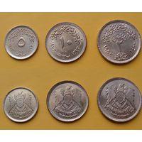 Египет набор 1973/1980г. 5, 10 милимс, 2 пиастр