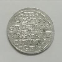 3 гроша (трояк) 1599 г Рига.