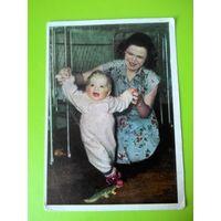 Открытка 1959г. Первые шаги. Фото Д. Шоломовича