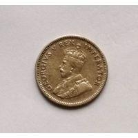 Южная Африка  6 пенсов  1933 г.  (Георг V) серебро