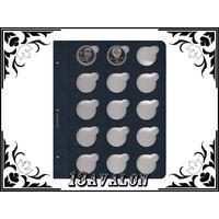 Лист Синий, для монет в капсулах D= 37 мм, Коллекционер КоллекционерЪ в альбом для капсул