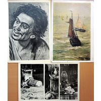 Три открытки. 1966 и 1963 годы. Третьяковская галерея и Киевский государственный музей западного и восточного искусства.