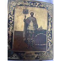 Икона Святого Благоверного Князя Александра Невского. По Золоту!