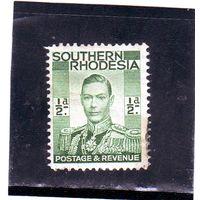 Южная Родезия.Ми-42.Король Георг VI (1895-1952).1937.
