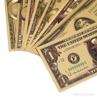 """Доллары """"Голд"""" полный набор $ (сувенирные для коллекции)."""