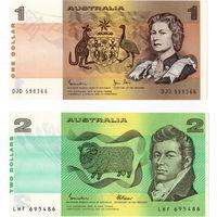 Австралия, 1 и 2 доллара, ND, UNC