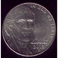5 центов 2013 год D США