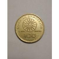 Греция / 100 драхм / (E) / 1990 год