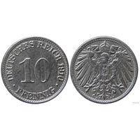 YS: Германия, Рейх, 10 пфеннигов 1910A, KM# 12 (2)