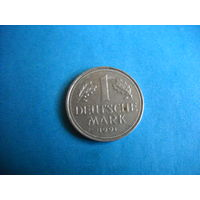 ФРГ 1 марка 1991 г. (G)