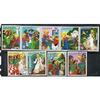 Дисней Золушка Парагвай 1979 год серия из 9 марок