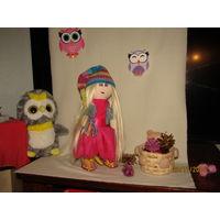 Кукла (интерьерная,подарочная новогодняя) изготовленная своими руками.(2)