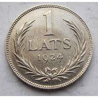 Латвия, лат, 1924, серебро