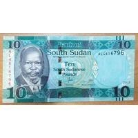 10 фунтов 2015 года - Южный Судан - UNC