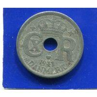 Дания 10 эре 1941 , цинк , 2-я Мировая