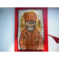 Старинная Икона. Николай Чудотворец.
