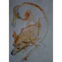 Рисунок 1, бумага,карандаш,цвет,61х42 см.