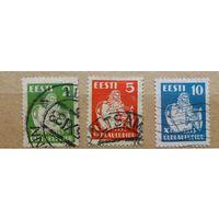 Эстония,\440\ Estonia, 1933, SC 113-115, ми 99-101 гаш
