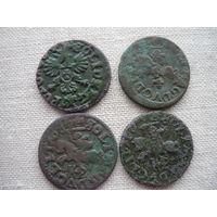 Боратинки 4 шт разные монетные дворы.