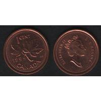 Канада _km289 1 цент 1999 год (-) (f33)