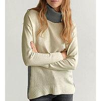 Бежево-серый свитер Esprit 44-46-48шерсть+хлопок+