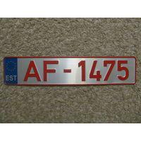 Автомобильный номер Эстония AF-1475