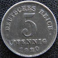 YS: Германия, 5 пфеннигов 1920D, KM# 19 (1)