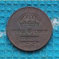 Швеция 2 оре 1970 года, АU. Корона. Густав VI Адольф.