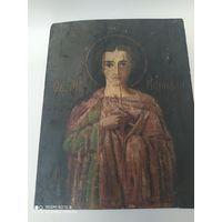 Икона  старинная Святой мученик Вонифатий. Извлечение от алкогольной зависимости.