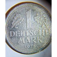 Германия 1 марка, 1975 г.