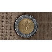 Сан-Марино 500 лир 1995 /ФАО/ребенок/колос/ (М*)