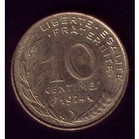 10 сантимов 1974 год Франция