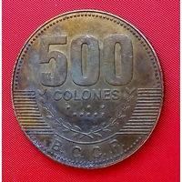 35-40 Коста-Рика, 500 колон 2007 г. Единственное предложение монеты данного типа на АУ